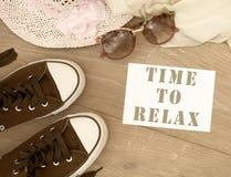 ослабьте время к Стоковая Фотография RF