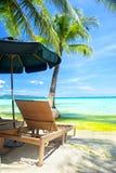Ослабьте зону на пляже Стоковая Фотография RF