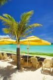 Ослабьте зону на пляже Стоковые Изображения RF