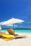 Ослабьте зону на пляже Стоковое Изображение