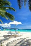 Ослабьте зону на пляже Стоковое Изображение RF