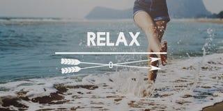 Ослабьте концепцию каникул спокойного chill счастья отдыхая Стоковая Фотография RF