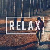 Ослабьте концепцию спокойствия остатков воссоздания chill Стоковое Изображение RF