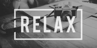 Ослабьте концепцию спокойствия остатков воссоздания chill Стоковая Фотография RF