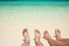 Ослабьте на пляже Стоковая Фотография