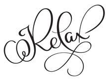 Ослабьте текст слова вектора винтажный Иллюстрация EPS10 литерности каллиграфии на белой предпосылке иллюстрация вектора