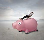 ослабленный бизнесмен Стоковая Фотография RF