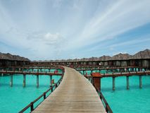 Ослаблять в солнечных Мальдивах Стоковое Изображение RF