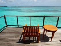 Ослаблять в солнечных Мальдивах Стоковые Изображения RF