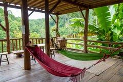 Ослаблять в хате бамбука леса Стоковые Изображения RF