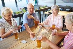 Ослаблять с пивом Стоковое Фото