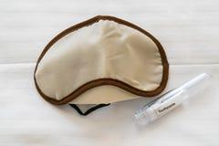 Ослепите для кровати и путешествуйте комплект зубоврачебного стоковое фото