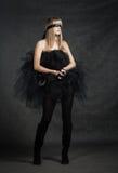 Ослепленный ждать девушки. Она weared черная балетная пачка Стоковое фото RF