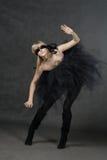 Ослепленный ждать девушки. Она weared черная балетная пачка Стоковые Изображения RF