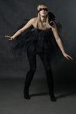 Ослепленный ждать девушки. Она weared черная балетная пачка Стоковое Фото