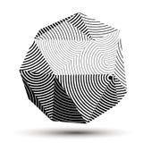 Осложненная абстрактная серая шкала 3D striped форма, вектор цифровой бесплатная иллюстрация