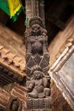 Осложненный woodcarving Будды Стоковые Фотографии RF