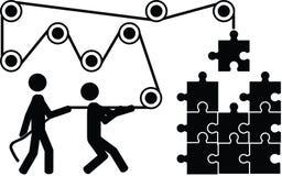 Осложните головоломку Стоковые Изображения