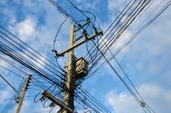 Осложните кабель электричества Стоковое Изображение RF