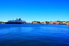 Осло в гавани Норвегии одна из привлекательностей Осло больших в s Стоковая Фотография