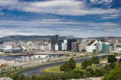 Осло, городской, Bjoervia Норвегия Стоковое Изображение