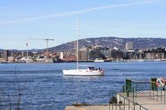 Осло от Hovedøya Стоковые Изображения