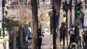 Отава 05 взрыва Ratchaprasong, Бангкок, Таиланд акции видеоматериалы