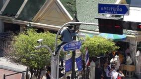 Отава 16 взрыва Ratchaprasong, Бангкок, Таиланд сток-видео
