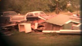 Отава разрушения торнадо (архивное 1960) видеоматериал