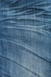отбеленная текстура голубых джинсов грубая Стоковое Изображение