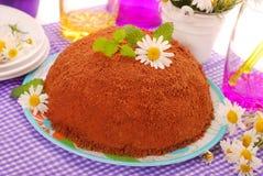 отбензинивание формы crumble шоколада торта шарика стоковое фото rf