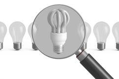 Отборная концепция лампы сбережений иллюстрация вектора