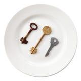 отборный ключ двери ваш стоковая фотография