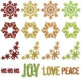 отбортованный яркий блеск рождества орнаментирует снежинку Стоковая Фотография