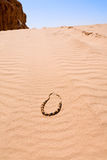 отбортовывает желтый цвет песка дюны десерта бедуина Стоковое Изображение
