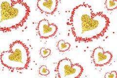 отбортовывает красный цвет сердца Стоковые Изображения