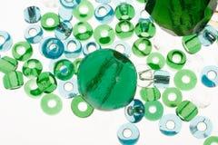 отбортовывает прозрачное синего стекла зеленое стоковое фото