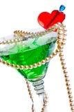 отбортовывает стеклянную перлу martini Стоковые Изображения