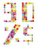 отбортовывает цветастое сделанное письмо номерами бесплатная иллюстрация