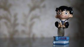 Отбрасывая смешная игрушка весны мальчика Conan акции видеоматериалы