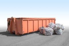 отброс контейнера старый Стоковое Изображение