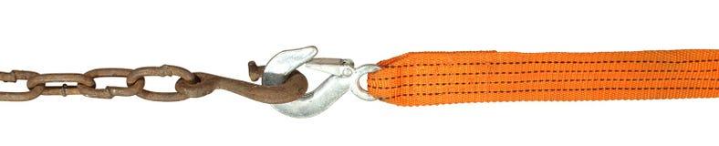 отбуксировка веревочки крюков Стоковое Изображение