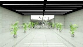 Отверстие двери свода в банке Реалистический интерьер Камера мухы бесплатная иллюстрация