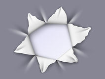 Отверстие в алюминии Стоковое Изображение