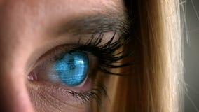 Отверстие голубого глаза видеоматериал