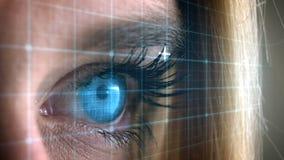 Отверстие голубого глаза сток-видео