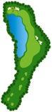 отверстие гольфа курса Стоковая Фотография RF