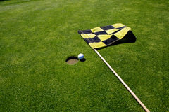 отверстие гольфа флага Стоковые Изображения RF
