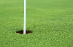 отверстие гольфа Стоковое Изображение