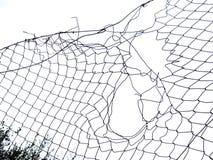 Отверстие, зазор в загородке, часть предпосылки изолированная над белизной Стоковые Изображения RF